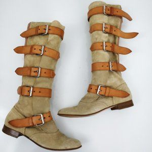 Vivienne Westwood Tall Suede Pirate Boots 36 6